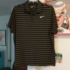 Nike Golf Dri Fit Striped Polo Shirt XXL